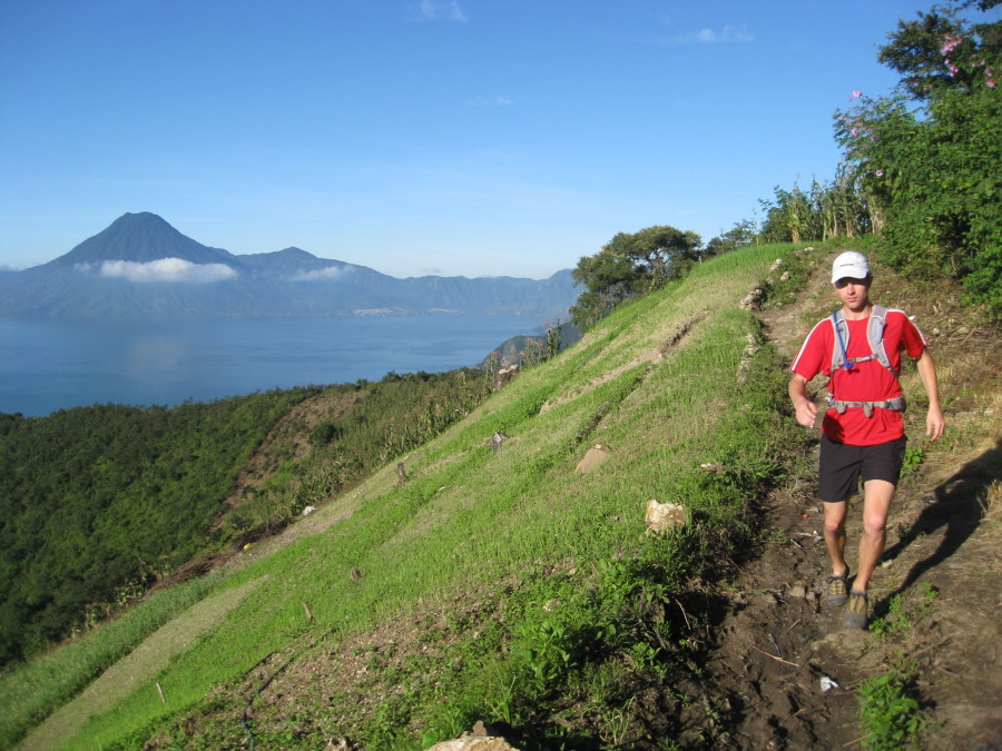 Trail running in Guatemala