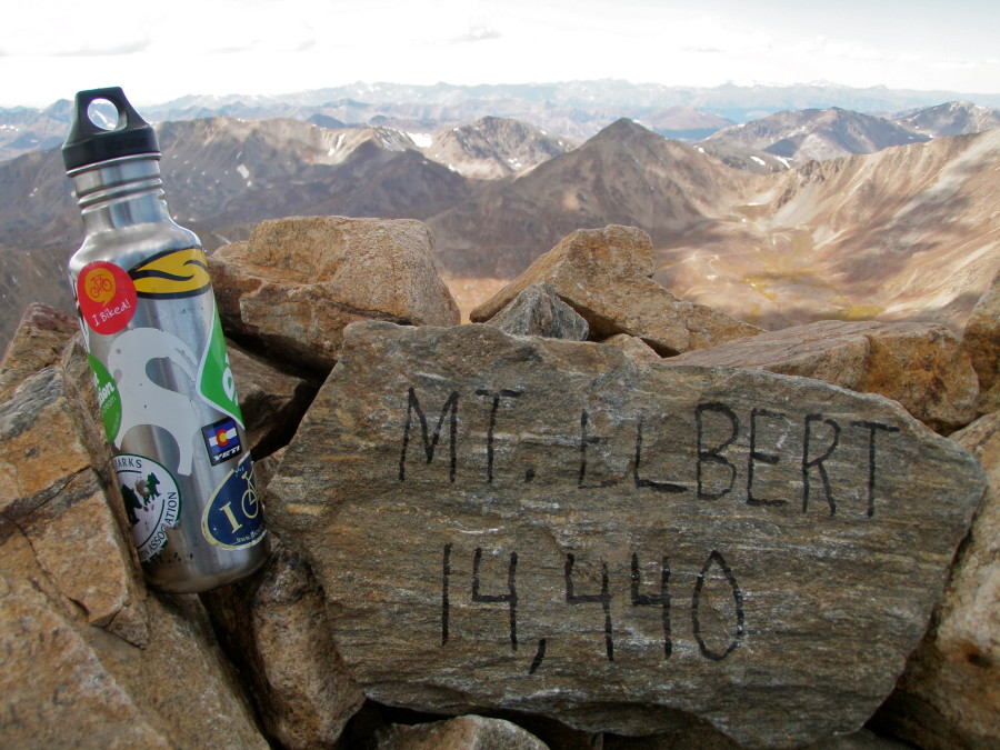 Klean Kanteen on Mt. Elbert summit