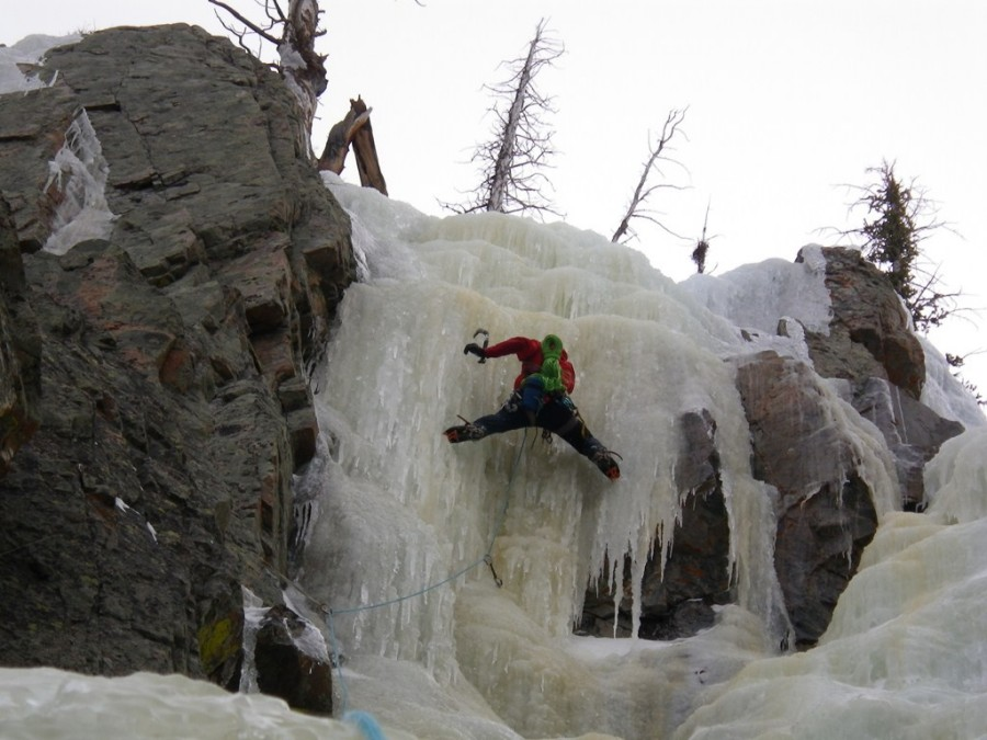 On The Classic Dubois Gulley Ice Climb