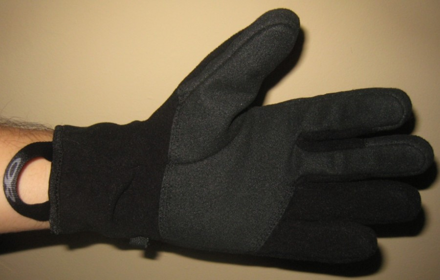 OR Gripper Glove with pull on loop showing