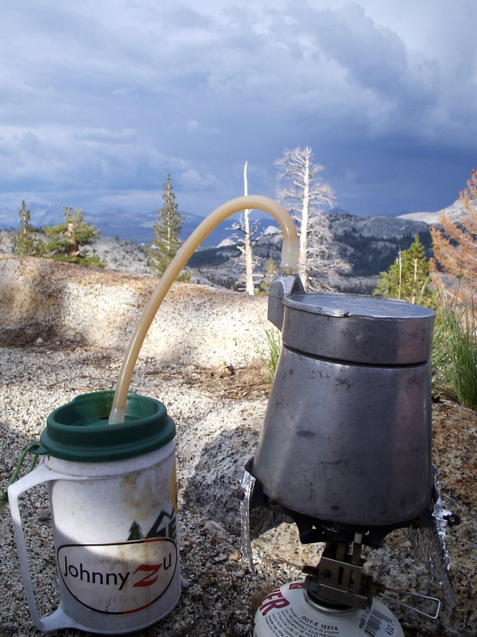 coffee at May Lake, Yosemite