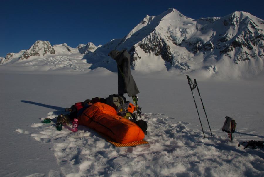 Chillin on the glacier
