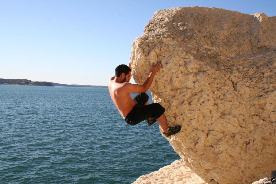bouldering lake side