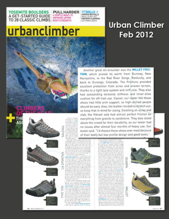Urban Climbing Review on Millet Friction