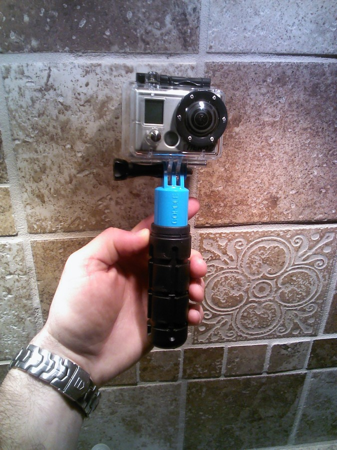 GoPro, go pole with grenade grip