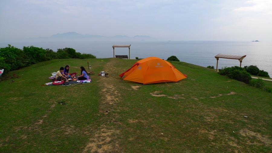 Marmot Limelight 4 in Tap Mun Island, HK