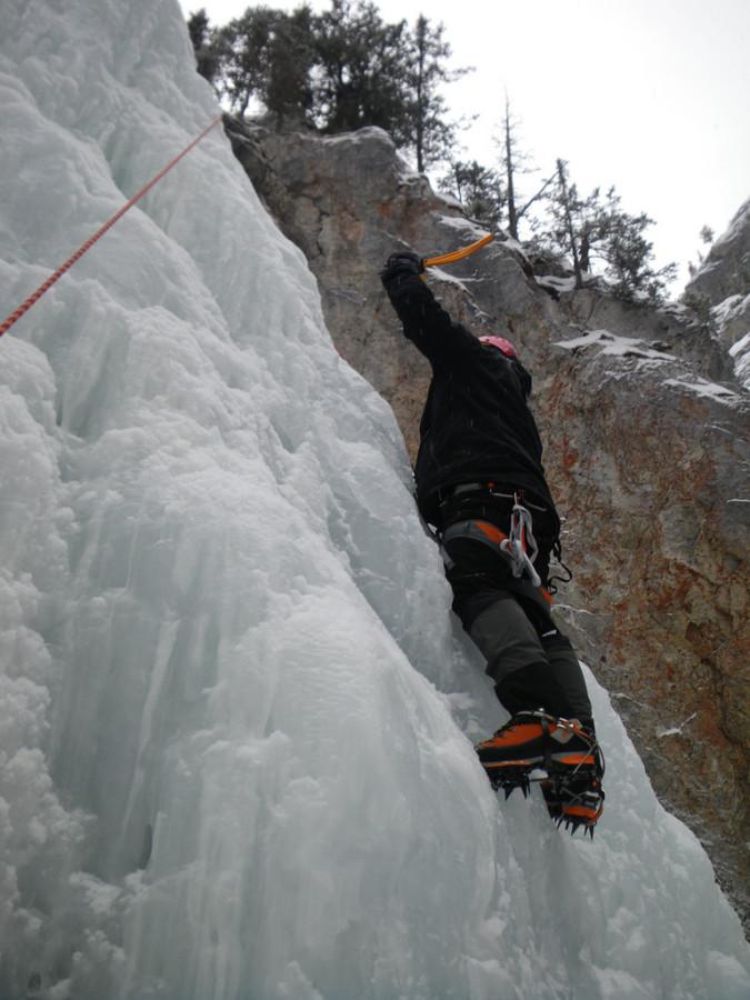 Climbing WI 2+