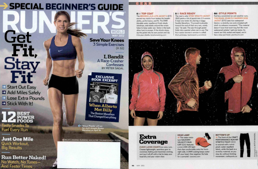 "Runner's World Magazine's ""Rain Jackets that Shine"""