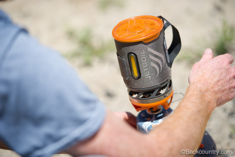 Heat indicator on JetBoil Sol Stove