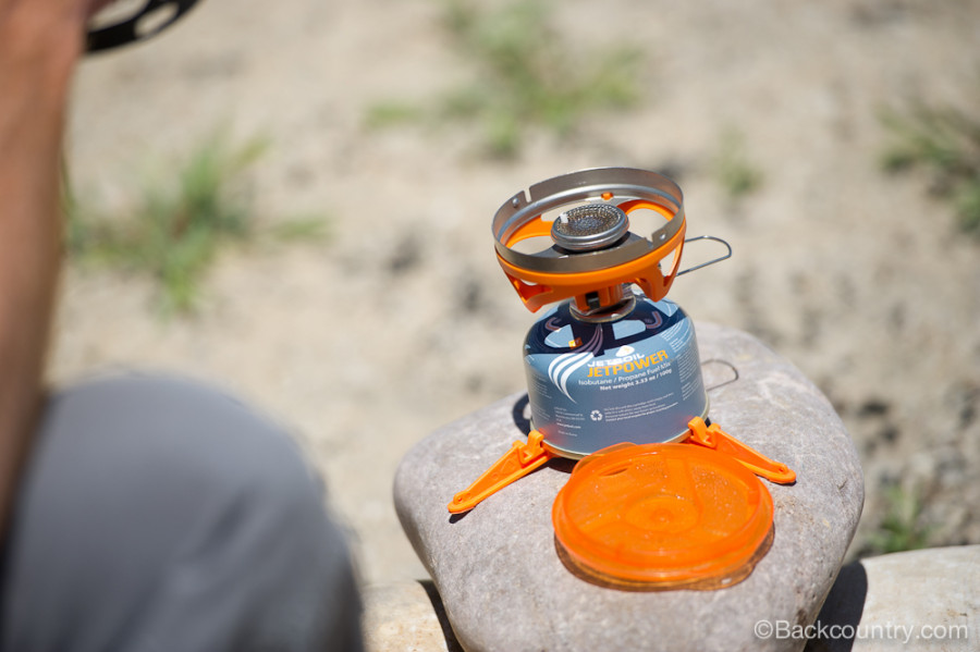 JetBoil Sol fuel canister and stove w/o pot/mug