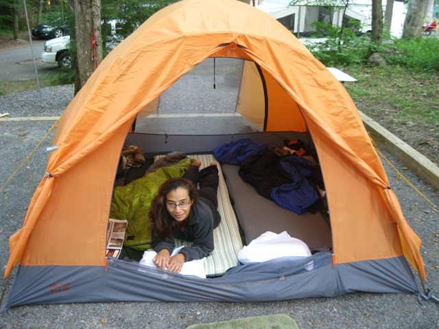 Hereu0027s a good photo looking in the back door that gives an ideal of size with someone lying on an air mattress & Total Newbie: Want to go out with 3 other friends. What tent ...