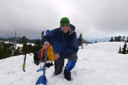 BD shovel, North Shore Mtns, Vanc June 2012