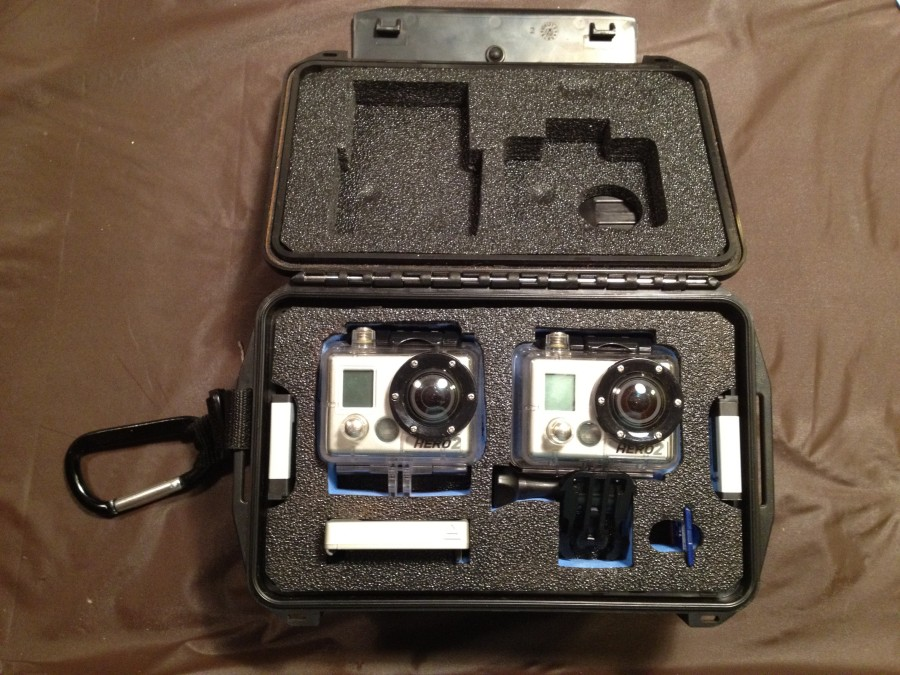 Modified POV 30 Case to include a 2nd GoPro