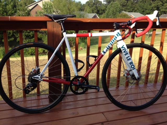 This Rider Sent his personal picture of his Vive Le Roi Bike