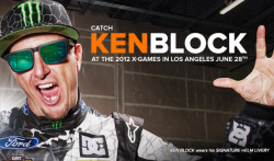 Ken Block wears his Signature Helm Livery Sunglasses