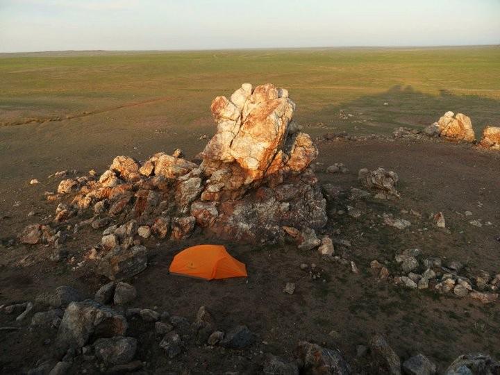 Backpacking in the Gobi Desert in Mongolia