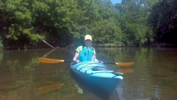 Paddling on Elkhorn Creek
