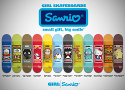 SANRIO x GIRL Skate Decks