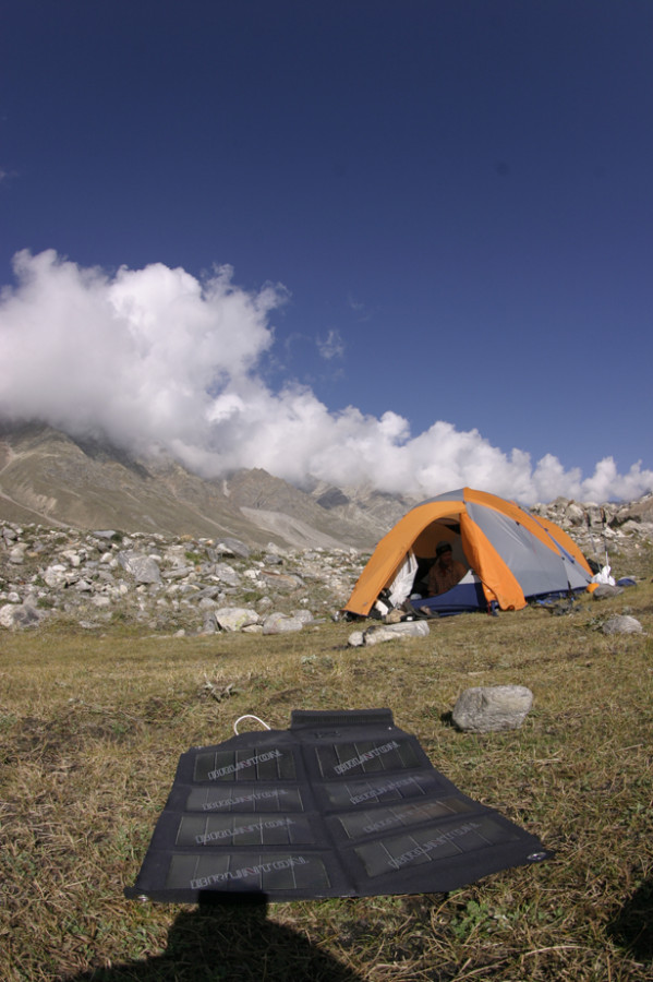 The Solaris 26 soakin up some sun in the Indian Himalaya.