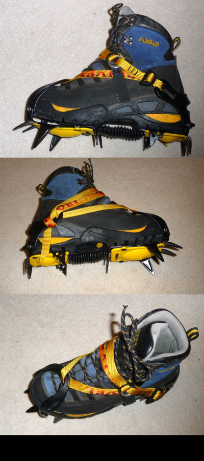 Grivel G10 crampons on my boots