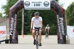 Finishing the Holland Hundred Ride