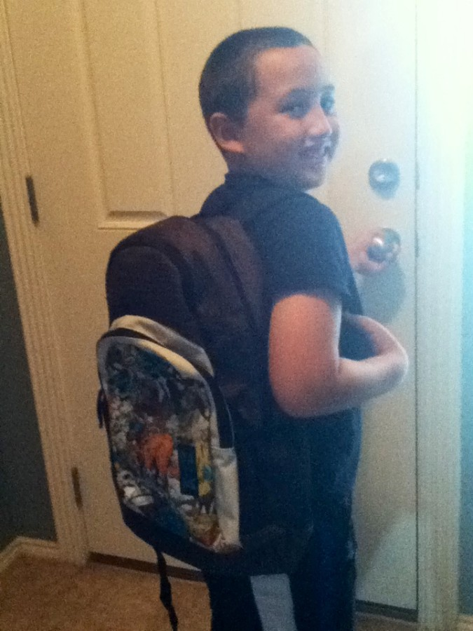 Kai going back to school in Dakine