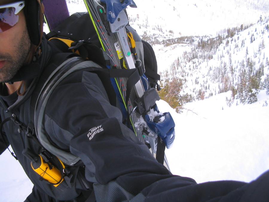 Bootpacking a steep chute in the Wallowas