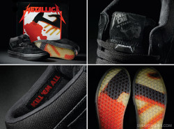 Metallica Kill E'm All Shoes