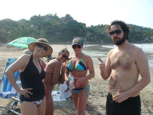 Beaver Hat on the Beach