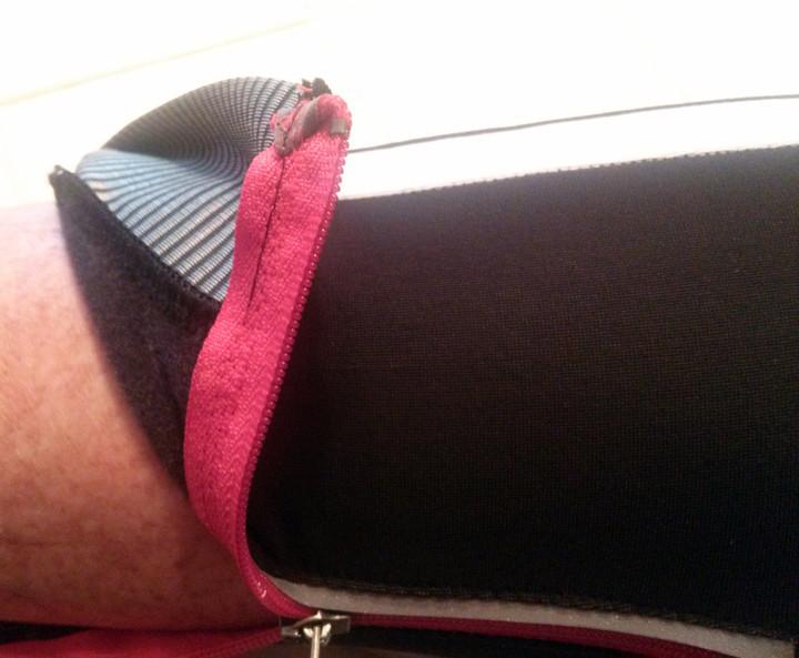 Ankle zipper area