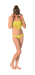 Roxy Women's Surf Essentials Fringe Bandeau Bikini Top