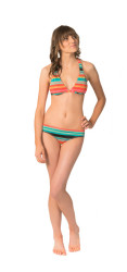 Roxy Wave Frenzy Cheeky Brief Bikini Bottom