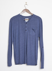 Arbor LS Bowery Shirt - Dark Blue