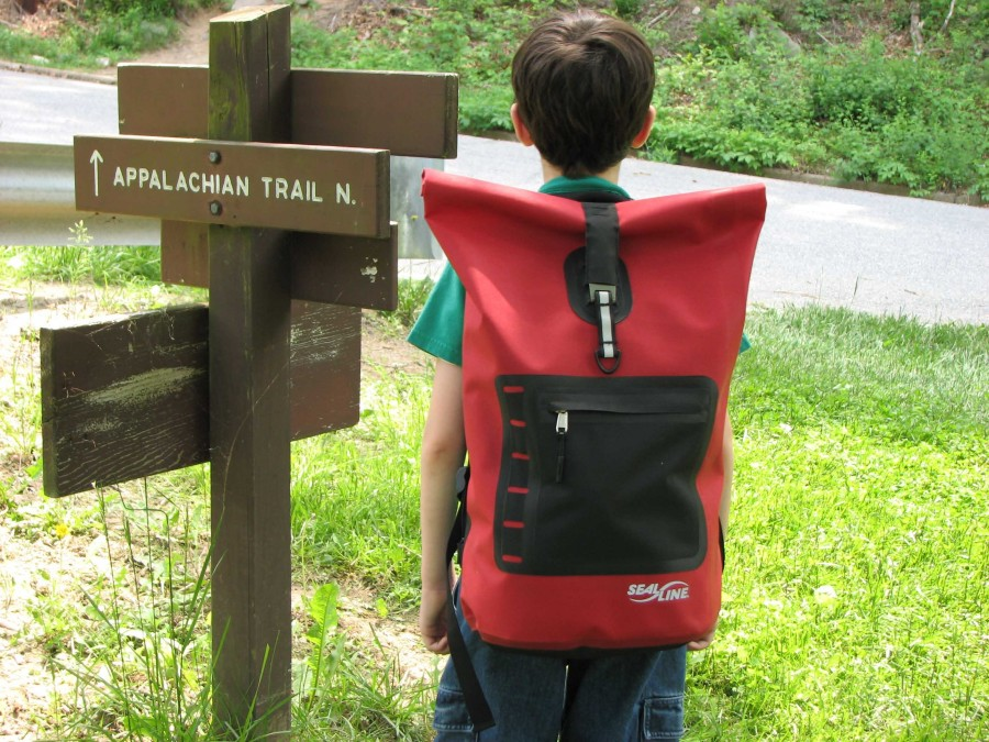 Day hike with the Seal Line waterproof backpack