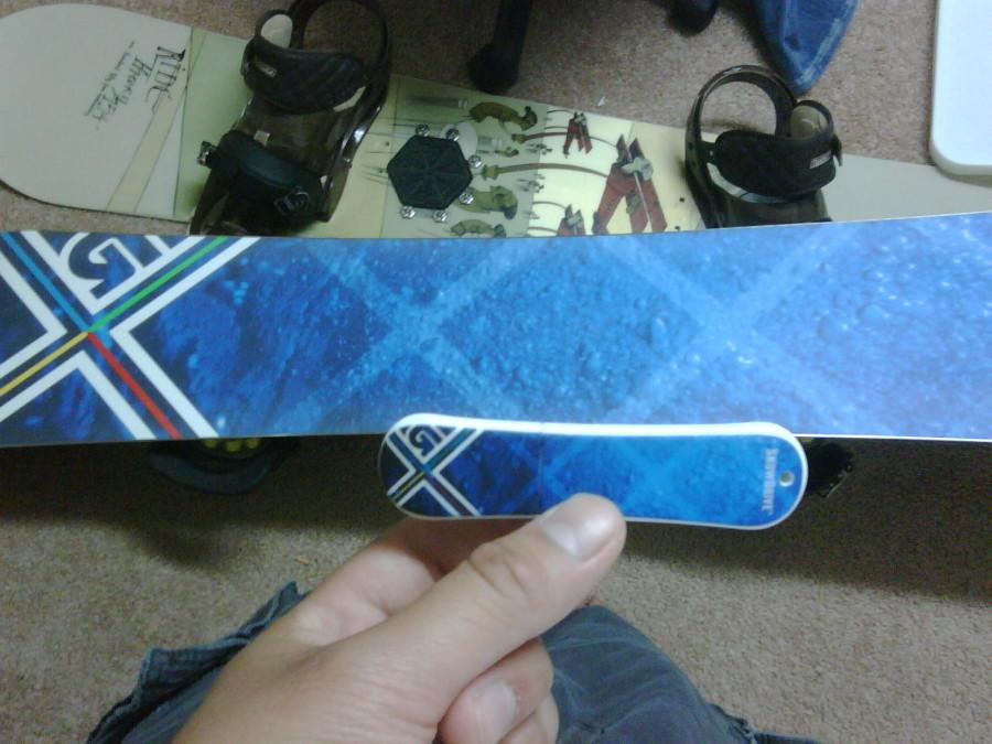 Burton Custom X Snowboard with matching USB Flashdrive!