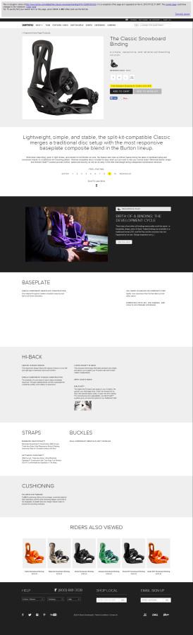 Burton Details Page