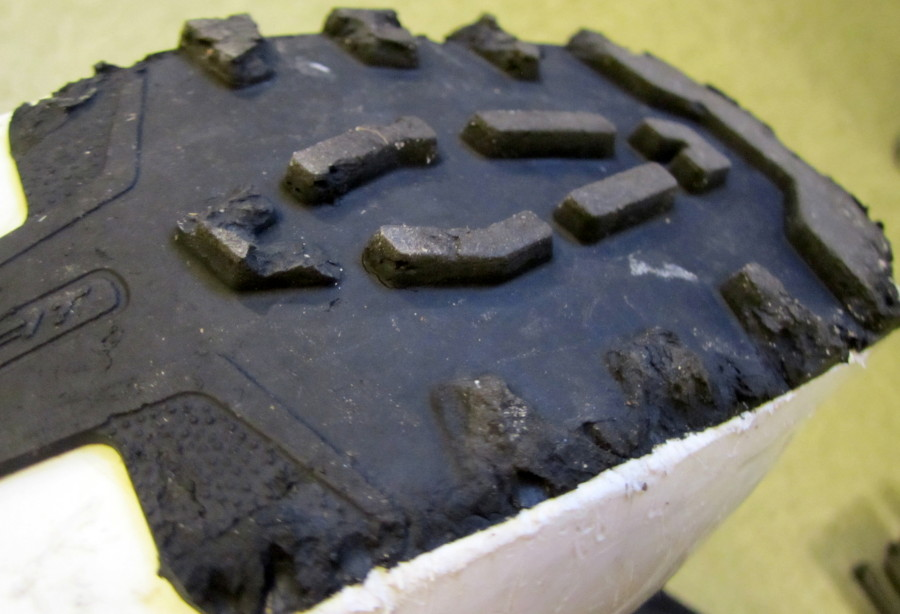 Beware of crumbling boot soles!