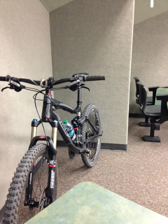 My bike comes to class too!