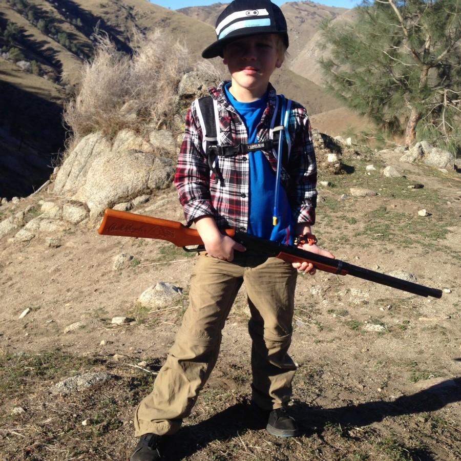 Marmot  Cruz with the Red Ryder BB gun