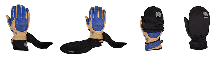 This glove comes with slip-on shell mit!