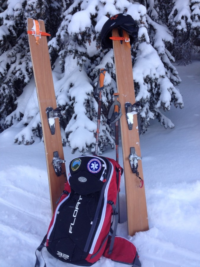 Igneous skis and the Float bag