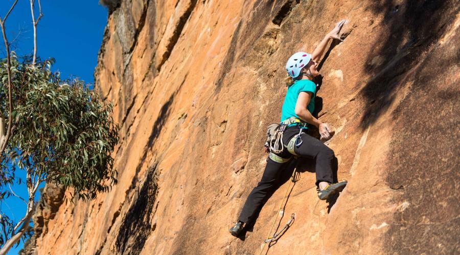 Climbing on upper Shipley
