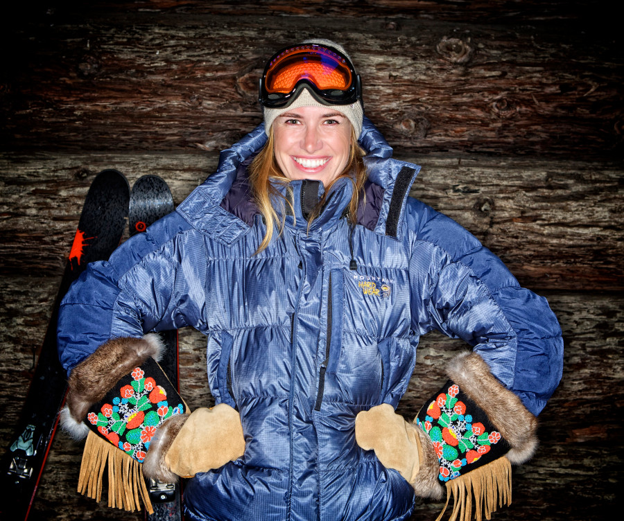Laurie in the Sacagawea Mittens