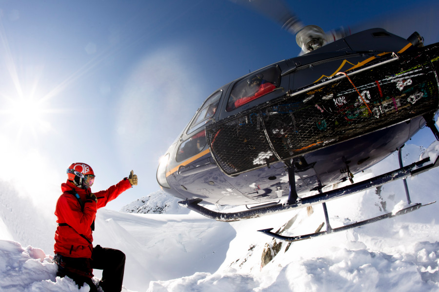 Guide at AK Heliskiing in Shifter Jacket