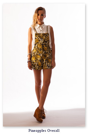 Tallow Gallery Pineapples Overall Short