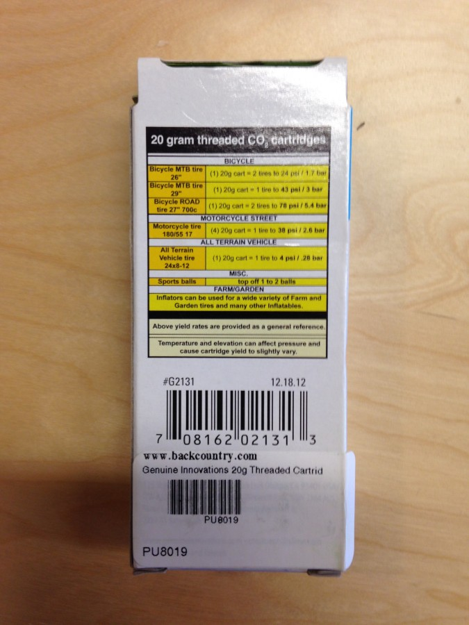 The Specs Listed On The Back Of The Box