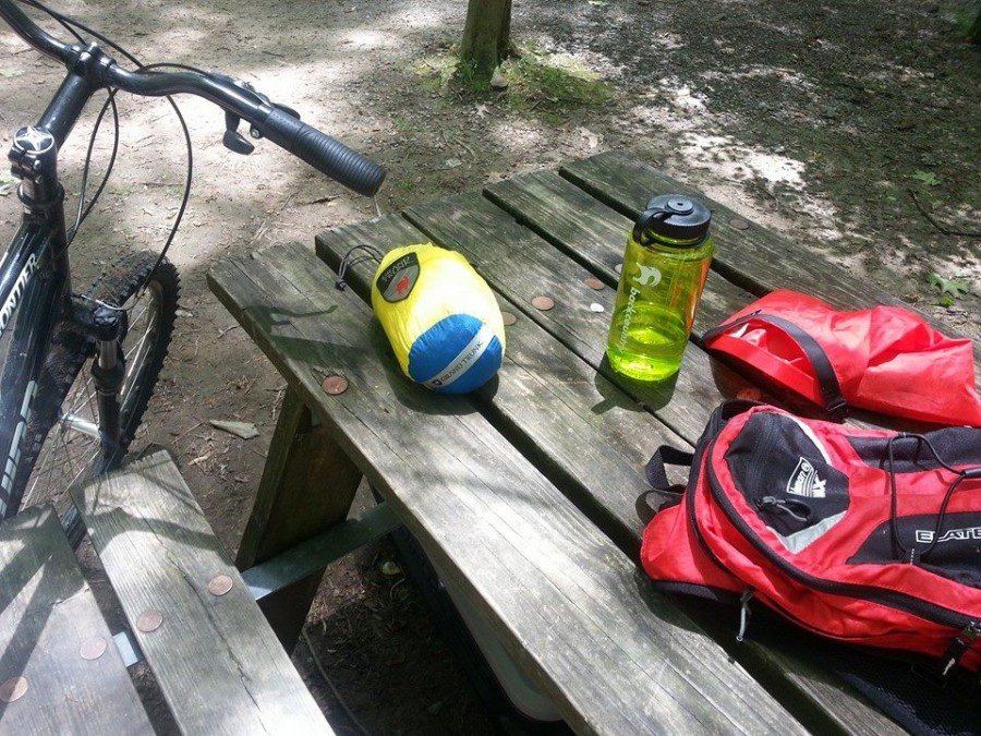 Biking in the Monongahela