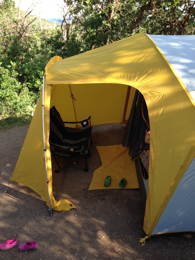 Vestibule with camp chair
