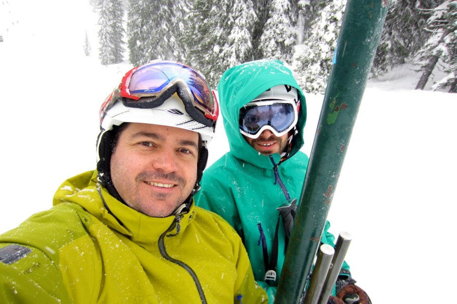 Smith helmet on the lifts :-)