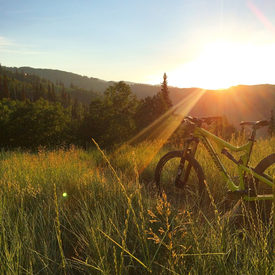 Sunset riding in Park City